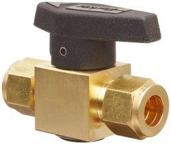 """Parker Brass Plug Valve 1/2"""" A-Lok Compression Fitting (8A-PR6-VT-B)"""