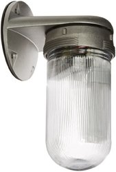 Vaporproof Glass Globe Compact Fluorescent Fixtures with Wall Mount