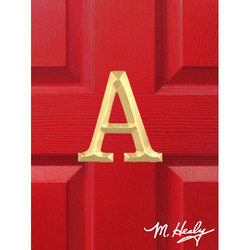 Michael Healy Door Knockers Solid Brass Letter 'A' Monogram