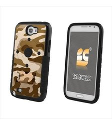 Beyond Cell Tri-Shield Case with Built-In Kickstand for Samsung Galaxy Note 2 - Design Camouflage Desert Storm - Retail Packaging - Black/Black/Camouflage Desert Storm