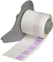"Brady M71-30-427-PL 0.75"" Width x 1.5"" Height Purple/Translucent Color B-427 Self-Laminating Vinyl Labels With Matte Finish For BMP71 Label Printer (250 Per Roll)"