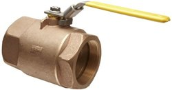 "Apollo 70-100 Series Bronze Ball Valve, Two Piece, Inline, Latch-Lock Lever, 1"" NPT Female"