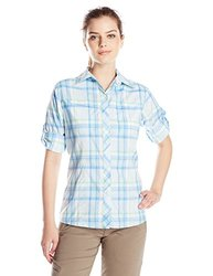 Columbia Women's Insect Blocker Plaid Long Sleeve Shirt, Air, Small