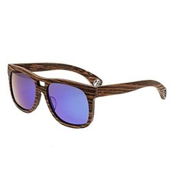 Earth Wood Las Islas Sunglasses - Ebony/Blue-Green