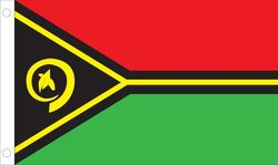Allied Flag Outdoor Nylon Vanuatu United Nation Flag, 2-Feet by 3-Feet
