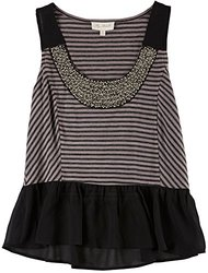My Michelle Junior Girls'  Collar Stripe Sleeveless Top - Size: Small