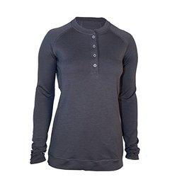 Showers Pass Women's Bamboo Merino Sport Henley Shirt - Grey - Size: Small