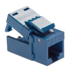 Platinum Tools EZ-SnapJack Cat5e, Blue. 20/Jar.