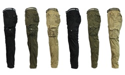 Harvic Galaxy Men's Belted Cargo Pants - Khaki - Size: 38x32