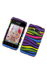 Eagle Cell Rubber Rainbow Zebra Protective Case