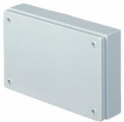 "Rittal 1503510 Light Grey 18 Gauge Steel KL Screw Cover Junction Box, 11-13/16"" Width x 7-7/8"" Height x 4-23/32"" Depth"