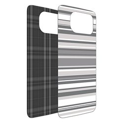 OtterBox Cell Phone Case for Samsung Galaxy S6 - Retail Packaging - Grey Plaid/Grey Stripe