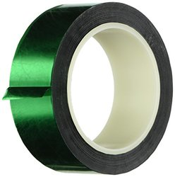 "TapeCase Metalized Polyester Film Tape 1.5"" x 72yds - Green (1 Roll)"