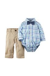 Carter's Baby Boy Bodysuit & Denim Pant 2-Piece Set - Blue