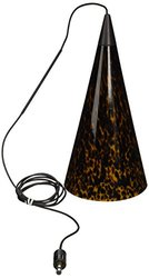 Tiella 800MPTAOAZ Taos Collection 1 Light 12-Volt Mini-Pendant for MonoPoint Canopy, Bronze Finish with Amazon Frit Glass Shade
