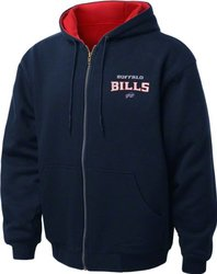 Dunbrooke Apparel NFL Buffalo Bills Thermal Hoodie - Navy/Red - Size: 5XL