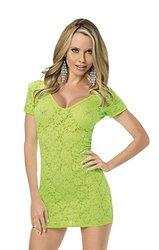 Escante 1319 V-neck Lace Dress