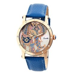 Bertha Betsy: BR5705 Band-Blue/Case-Rose Gold/Dial-Multi-Colored