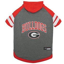 NCAA Officially Licensed Pet Hoodies: Georgia/Large