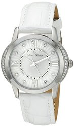 Lucien Piccard Women's Dalida Watch -White Leather/Mother of Pearl Dial