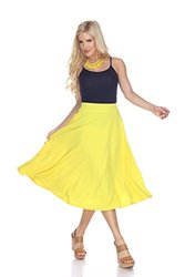 Midi Flare Skirt: Yellow/medium