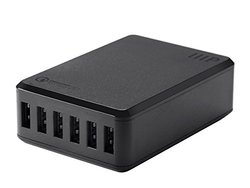 Monoprice Obsidian Series 6 Port 8A USB Smart Charger, 1 port is QC2.0(113915)