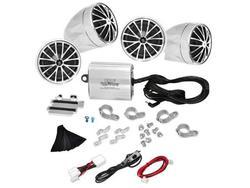 Pyle PLMCA70 4-Channel Motorcycle Handlebar Mount Speakers & Amplifier Kit