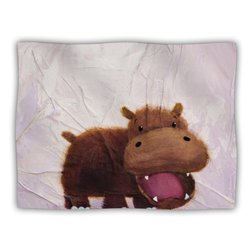 "Kess InHouse Rachel Kokko ""The Happy Hippo"" Pet Dog Blanket, 60 by 50-Inch"
