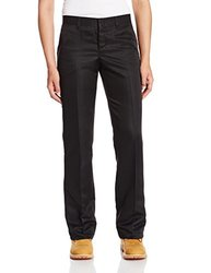 "Dickies Occupational Workwear FP831BK 24RG Polyester Relaxed Fit Women's Micro Denier Executive Pant with Straight Leg, 24 Regular, 31-1/ 2"" Inseam, Black"