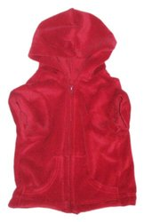 The Dog Squad Velour Zip Front Pet Hoodie - Red - Size: Medium