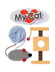 """Karen Foster Design Scrapbooking Stacked Sticker, 12 by 12"""", My Cat"""