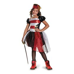 Disguise Girls Pretty Pirate Sequin Halloween Costume - Small