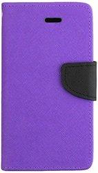 HR Wireless Premium PU Leather Flip Wallet Case - Purple(WC3-ZTEN9515-Prp)