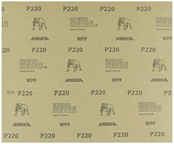 "Mirka 21-104-P220 Waterproof Finishing Sheet, 9"" x 11"""