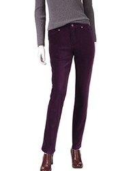 Gloria Vanderbilt Vickie Corduroy Pants - Blackberry Cordial - Size: 16