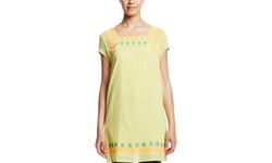 Esley Cap Sleeve Embroidered Tunic - Lime - Size: Medium