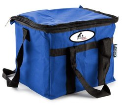 "Pampered Pets 9"" x 11"" Soft Sided 24 Can Insulated Cooler Bag - Blue"