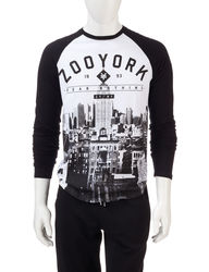 Zoo York Men's Raglan Fear Nothing Rooftop Tee - White - Size: XL