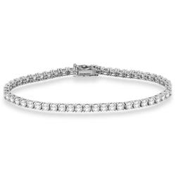 Menpura Women's Eternity Tennis Bracelet - White Gold
