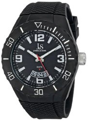 Joshua & Sons Men's Watch with Black Dial and Black Silicone Strap