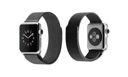 Tribeca Milanese Mesh With Closure Band For Apple Watch - 38mm - Black