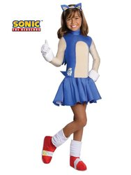 Sonic Boom Girls Halloween Costume - Blue - Small