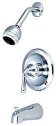 Aviditi Olympia Accent Single Lever Handle Tub and Shower Trim Set