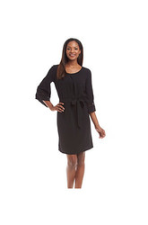 Madison Leigh Women's Solid Crepe Dress - Black