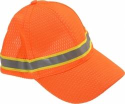 Jackson Head Protection Ball Cap w/ Silver Reflective - Orange - Pk of 12