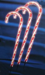 "Sienna 28"" Lighted Candy Cane Pathway Markers Outdoor Christmas - 3-Pack"