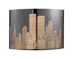 ELK Skyline 2-Light Sconce in Polished Stainless Steel