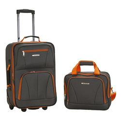 Rockland Luggage 2 Pc Set - Charcoal - Size: One Size