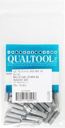 Qualtool Premium 60-T40-25 Star T40 Insert Bit, 25-Pack