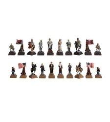 American Civil War Marble Resin Chessmen
